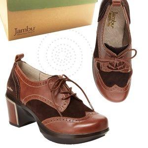 Jambu Brown San Fran Encore Leather Oxford Shoes 9